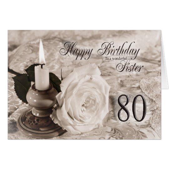 Tarjeta de cumpleaños para la hermana, 80.  La
