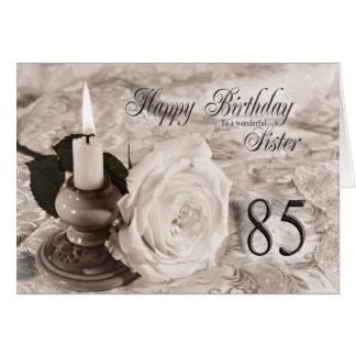 Tarjeta de cumpleaños para la hermana, 85.  La vel