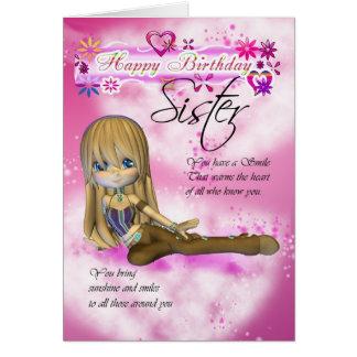 Tarjeta de cumpleaños para la hermana collec de l