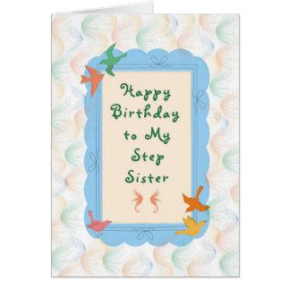 Tarjeta de cumpleaños para la hermana del paso