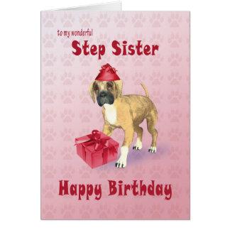 Tarjeta de cumpleaños para la hermana del paso con