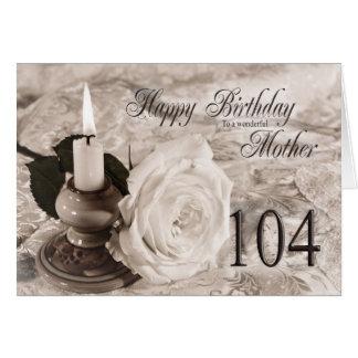 Tarjeta de cumpleaños para la madre, 104. La vela