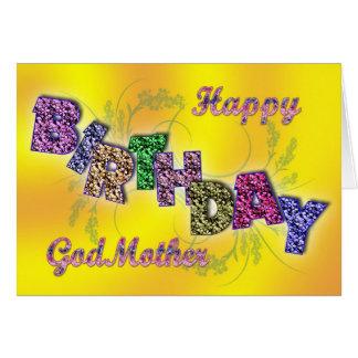 Tarjeta de cumpleaños para la madrina con el texto