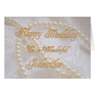 Tarjeta de cumpleaños para la madrina con las