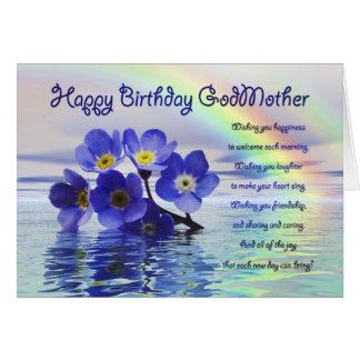 Tarjeta de cumpleaños para la madrina con nomeolvi