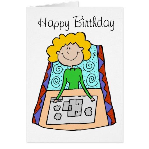 Tarjeta de cumpleaños para la mujer de negocios