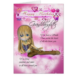 Tarjeta de cumpleaños para la nieta, empanada de