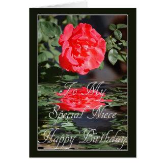 Tarjeta de cumpleaños para la sobrina