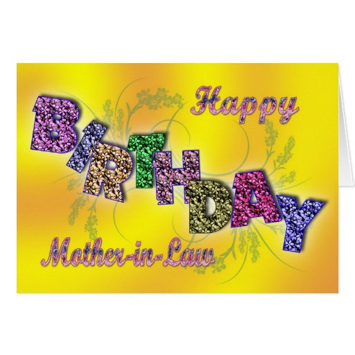 Tarjeta De Cumpleaños Para La Suegra Con El Texto