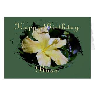 Tarjeta de cumpleaños para la tarjeta de Boss