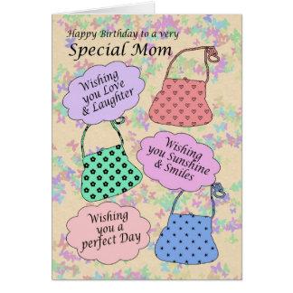 Tarjeta de cumpleaños para la tía, bolso monedero