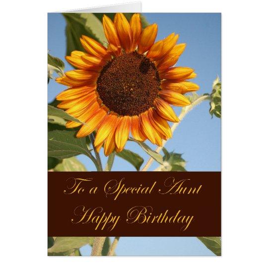 Tarjeta de cumpleaños para la tía especial
