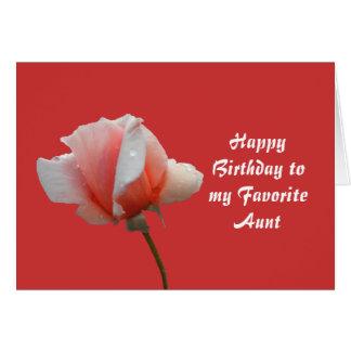 Tarjeta de cumpleaños para la tía preferida
