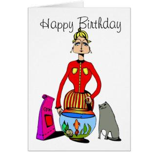 Tarjeta de cumpleaños para los amantes del gato