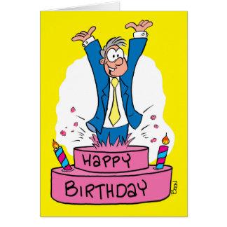 Tarjeta de cumpleaños para los clientes