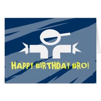 Tarjeta de cumpleaños para los hermanos - feliz