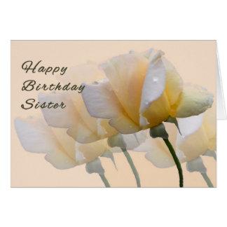 Tarjeta de cumpleaños para su hermana con los