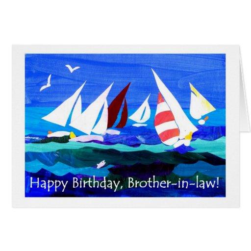 Tarjeta de cumpleaños para un cuñado - navegación