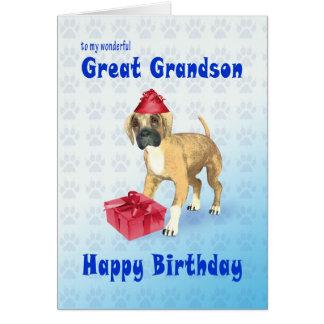 Tarjeta de cumpleaños para un grande - nieto con