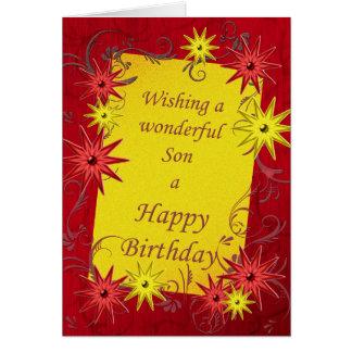 Tarjeta de cumpleaños para un hijo