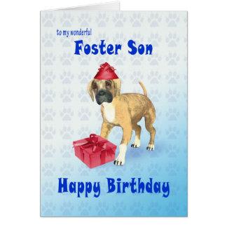 Tarjeta de cumpleaños para un hijo adoptivo con un