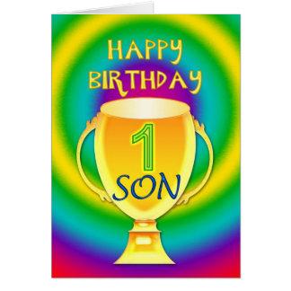 Tarjeta de cumpleaños para un hijo del número 1