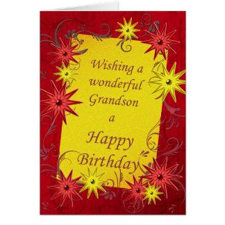 Tarjeta de cumpleaños para un nieto