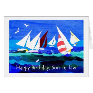 Tarjeta de cumpleaños para un yerno - navegación