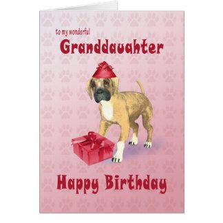 Tarjeta de cumpleaños para una nieta con un