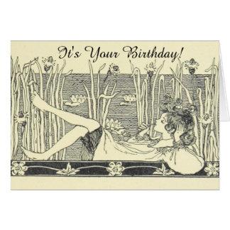 Tarjeta de cumpleaños perezosa del día del ejemplo