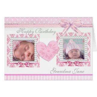 Tarjeta de cumpleaños personalizada abuela del