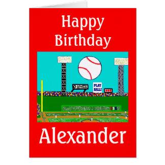 Tarjeta de cumpleaños personalizada béisbol del de