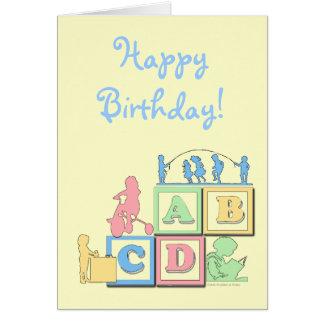 Tarjeta de cumpleaños preescolar