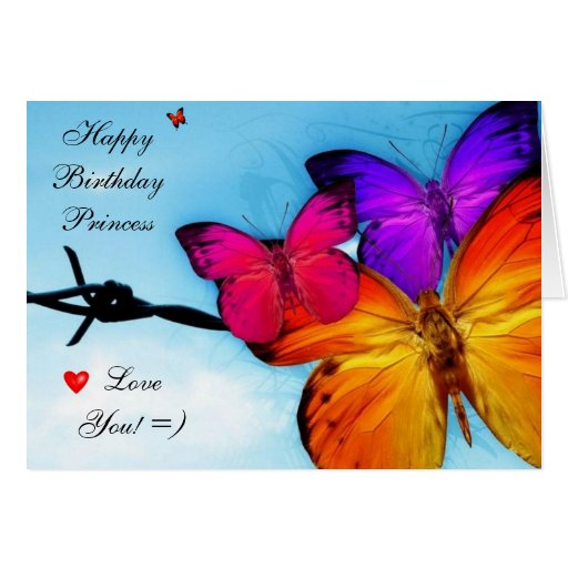 Tarjeta de cumpleaños: Princesa Card del feliz cum | Zazzle