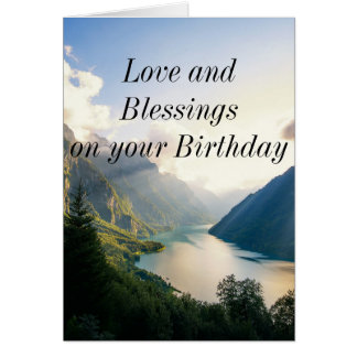 Tarjeta de cumpleaños religiosa