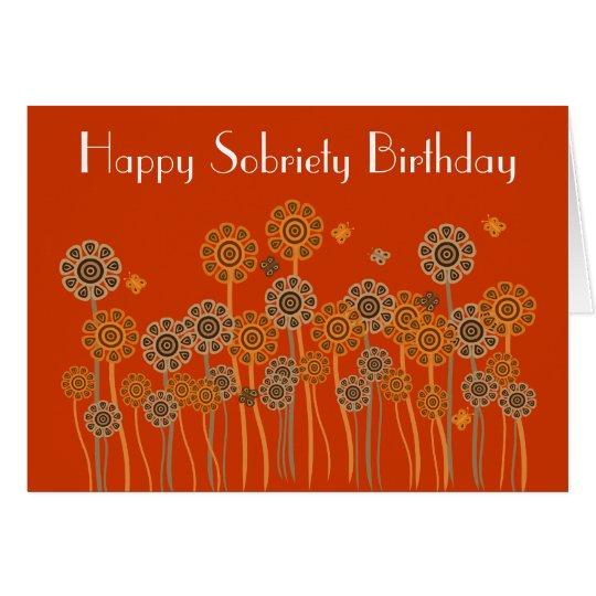 Tarjeta de cumpleaños retra anaranjada intrépida