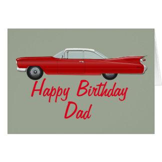 Tarjeta de cumpleaños roja de Cadillac