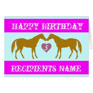 Tarjeta de cumpleaños rosada de la edad del