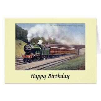Tarjeta de cumpleaños - Scotsman del vuelo