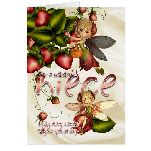 Tarjeta de cumpleaños - sobrina - hadas de la empa