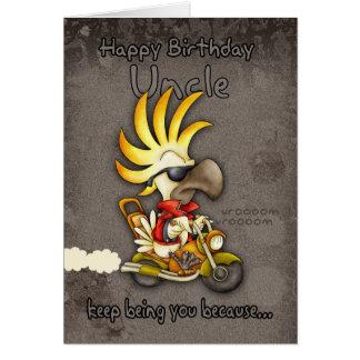 Tarjeta de cumpleaños - tarjeta del tío cumpleaños