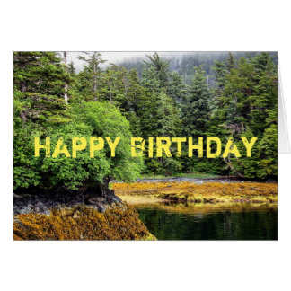 Tarjeta de cumpleaños verde de las opiniónes