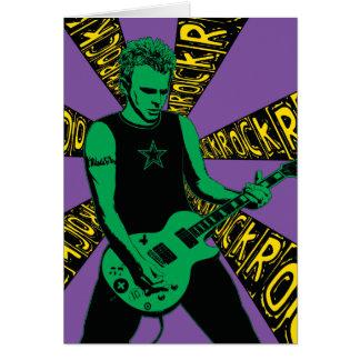 Tarjeta de cumpleaños verde de Rockin