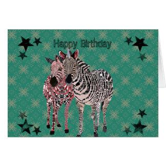 Tarjeta de cumpleaños verde de Zeb y de Zenya II
