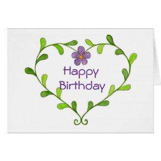 Tarjeta de cumpleaños violeta púrpura de la guirna