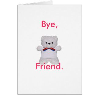 Tarjeta de despedida del amigo