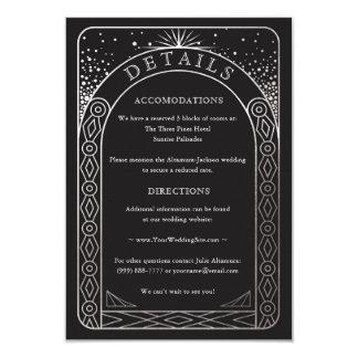 Tarjeta de detalles celestial del boda de la unión