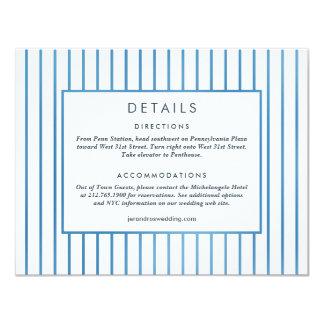 Tarjeta de detalles de Garden* del *Blue de la Invitación 10,8 X 13,9 Cm