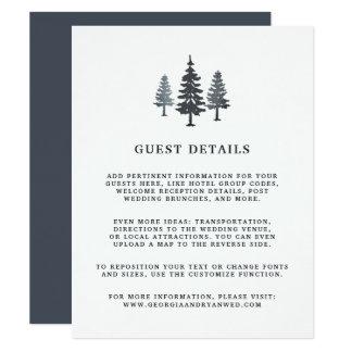 Tarjeta de detalles de la huésped del boda del invitación 10,8 x 13,9 cm