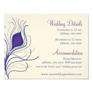 Tarjeta de detalles de la recepción invitación 10,8 x 13,9 cm